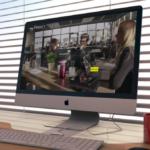 Site de My Agency sur écran