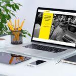 Site DeustConf sur ordinateur portable